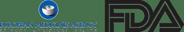 Logos för european medicines agency och FDA